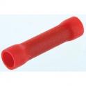 Manchon à butée - rouge 0,5-1,5mm² /10 - Dhome