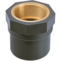 "Raccord PVC pression droit - Ø 32 / 40 - Taraudage laiton F 1"" - Girpi"