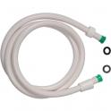Flexible lisse Blanc - embout vert - 1,5 m - Disflex
