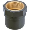 "Raccord PVC pression droit - Ø 20 / 25 - Taraudage laiton F 1/2"" - Girpi"