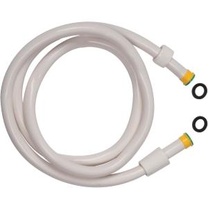 Flexible lisse Blanc - embout jaune - 1,5 m - Disflex