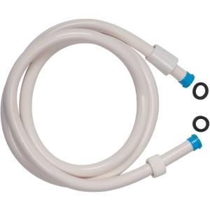 Flexible lisse Blanc - embout bleu - 1,5 m - Sélection Cazabox
