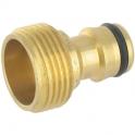 Nez de robinet rapide mâle en laiton - 15x21 vg - Cap Vert