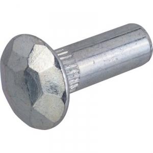 Douille martelée acier zingué blanc - Sélection Cazabox