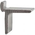 Taquet pour crémaillère aluminium à entailler - brut - Monin