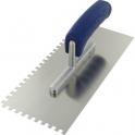 Peigne à colle lame acier inoxydable dentée sur deux côtés - platoir inox dent 2 cot 6x6 - Outibat