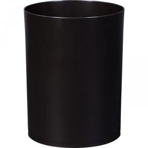 Corbeille plastique à papier noire - 14 L - Gilac