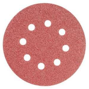Disque papier auto-agrippant 8 trous - Ø 125 mm - Grain 180 - Lot de 10 - SCID