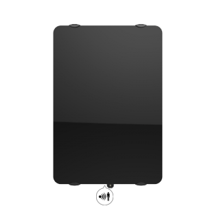 Radiateur à inertie sèche en verre - Vertical - CAMPAVER ULTIME 3.0 Smart ECOcontrol® - 1500 W - Noir astrakan - Campa