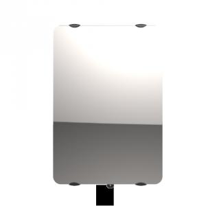 """Radiateur à inertie sèche en verre - Vertical - CAMPAVER ULTIME 3.0 Smart ECOcontrol® - 2000 W - Reflet """"miroir"""" -  Campa"""