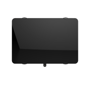 Radiateur à inertie sèche en verre - Horizontal - CAMPAVER ULTIME 3.0 Smart ECOcontrol® - 2000 W -  Noir astrakan - Campa