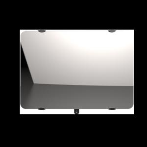 """Radiateur à inertie sèche en verre - Horizontal - CAMPAVER ULTIME 3.0 Smart ECOcontrol® - 2000 W -  Reflet """"miroir"""" - Campa"""
