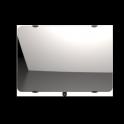"""Radiateur à inertie sèche en verre - Horizontal - CAMPAVER ULTIME 3.0 Smart ECOcontrol® - 1000 W - Reflet """"miroir"""" - Campa"""