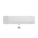 Radiateur à inertie sèche en verre - Plinthe - CAMPAVER ULTIME 3.0 Smart ECOcontrol® - 1200 W - Lys blanc - Campa