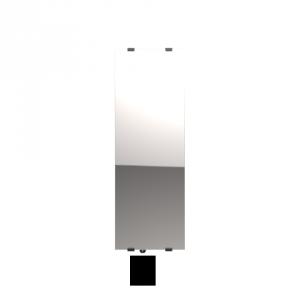 """Radiateur à inertie sèche en verre - Etroit vertical - CAMPAVER SELECT 3.0 Smart ECOcontrol® - 1100 W - Reflet """"miroir"""" - Campa"""