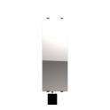 """Radiateur à inertie sèche en verre - Etroit vertical - CAMPAVER SELECT 3.0 Smart ECOcontrol® - 1600 W - Reflet """"miroir"""" - Campa"""