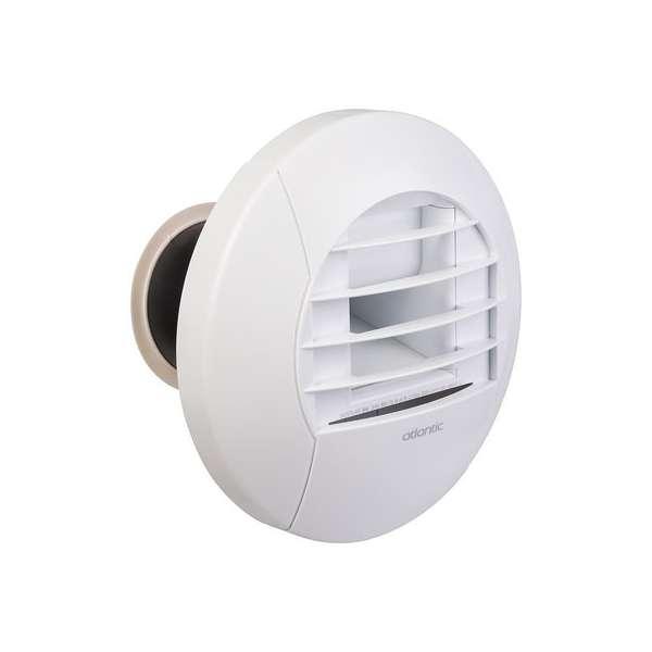 Kit de bouche d'extraction simple flux hygroréglable sanitaires avec piquage Twist & Go - WC - Atlantic