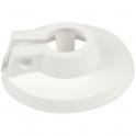 Rosace plastique blanche - Ø 60 / 12 mm - F 1/8'' - Coditherm