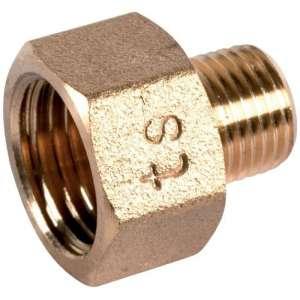 """Raccord laiton hexagonal réduit à visser - M 5/8"""" - F 1/2"""" - Riquier"""