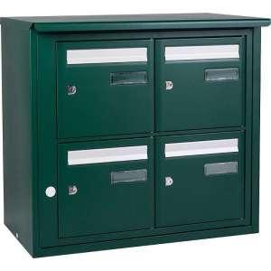 Bloc boîte aux lettres collective extérieur - B4 en applique - Languedoc standard - Vert mousse (Couleur) - Decayeux