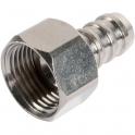"Raccord droit - F 3/8"" - Flexible polyester pression au mètre - Sélection Cazabox"