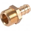 "Raccord droit - M 3/8"" - Flexible polyester pression au mètre - Sélection Cazabox"