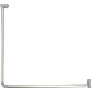 Kit d'angle aluminium anodisé - 70 x 70 cm - Ø 25 mm - Bossini