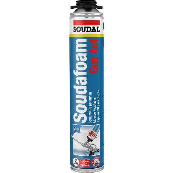 Mousse PU pistolable, soudafoam - Contenance (ml) : 750 - Soudal