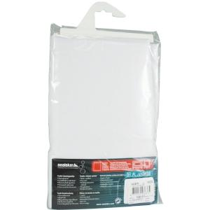Rideau polyester Blanc Sealskin sans anneaux - 120 x 200 - Sélection Cazabox