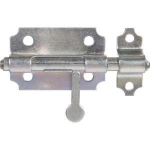 Verrou de box zingué blanc - Dimension platine (mm) : 68 x 80 x 1.5 Diamètre pêne (mm) : 12 - Jardinier massard