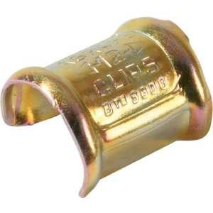 Agrafe zingué jaune pour collier clip - Vendu par 100 - Clips