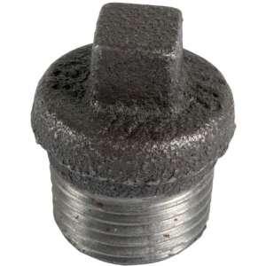 Bouchon fonte noire à collerette à visser mâle - N° 290 - Virfollet & cie