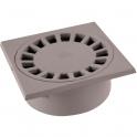 Siphon de sol PVC gris clair - 150 x 150 mm - Nicoll