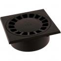 Siphon de sol PVC gris foncé - 150 x 150 mm - Nicoll