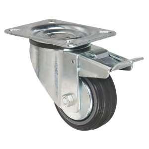 Roulette à frein à platine pivotante - Série S2C AF - Caujolle