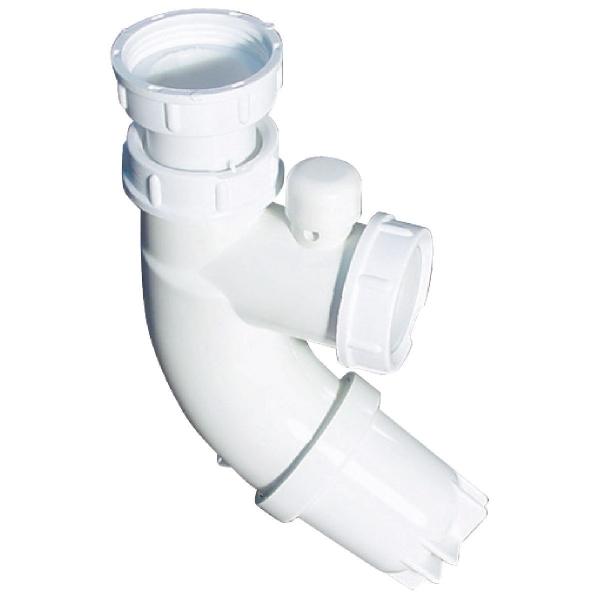 Siphon de lavabo ABS blanc - 1'1/4 - Ø 32 mm - Sifoblic - Valentin