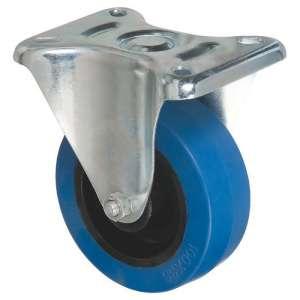 Roulette bleu à platine fixe - Série S7N - Caujolle
