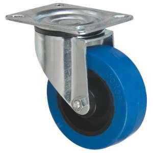 Roulette bleu à platine pivotante - Série S2N - Caujolle