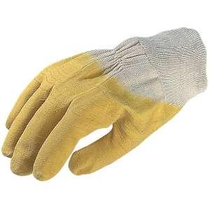 Gant de maçon latex jaune crépé - Euroflex - Eurotechnique
