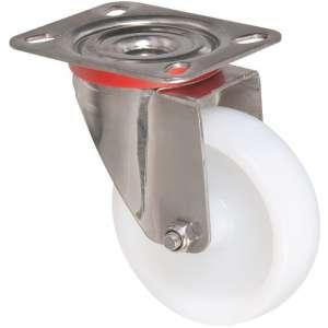 Roulette à platine pivotante - Série Inox - Caujolle