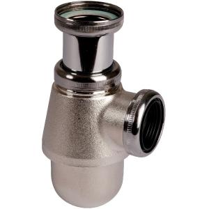 """Siphon de lavabo nickelé mat réglable - 1""""1/4 - Ø 32 mm - Valentin"""