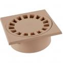 Siphon de sol PVC sable - 150 x 150 mm - Nicoll