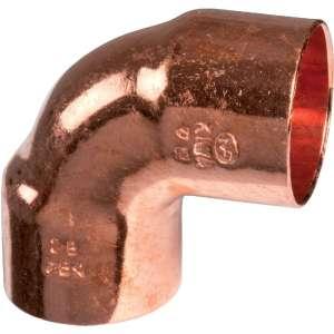 Raccord cuivre coudé 90° à souder femelle - Petit rayon - Frabo