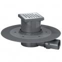 Siphon de douche à carreler - 150 x 150 mm - Sortie horizontale - Venisio - Wirquin Pro