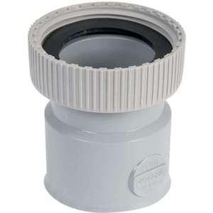 """Douille PVC grise droite - F 1""""1/4 - Femelle Ø 32 mm - Nicoll"""