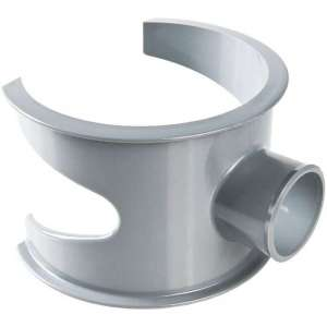 Selle de raccordement PVC gris - Femelle Ø 100 - 32 mm - Nicoll
