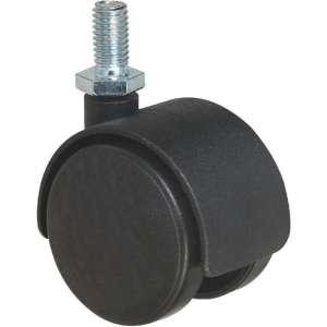 Roulette jumelée ameublement à tige filetée série S49 TF - Caujolle