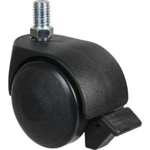 Roulette jumelée ameublement à tige filetée à frein série S49 TAF - Guitel Point M