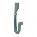 Siphon plastique M.A.L. - double entrée - Regiplast