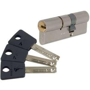 Cylindre 2 entrées varié nickelé - Sytème 7x7 - Mul-T-lock